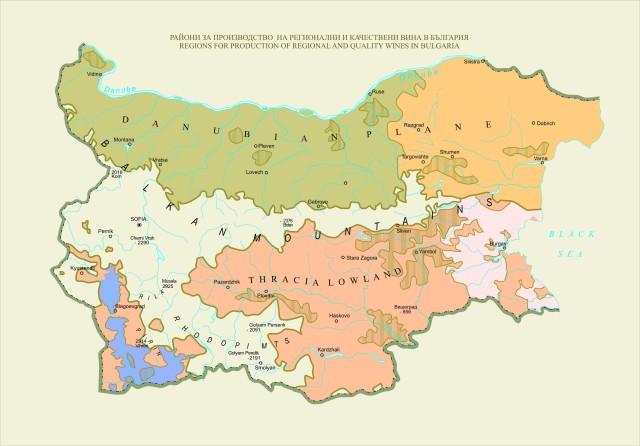 Régions pour la production de vins